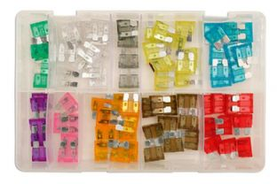 Connect 31856 Assorted Standard Blade Fuses Box Qty 80